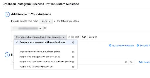 Create an Instagram Business Profile Custom Audience